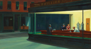 Nighthawks, by Edward Hopper, 1942.